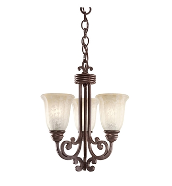 Kichler 3289CZ Wilton Collection Pendalette 3 Light in Carre Bronze