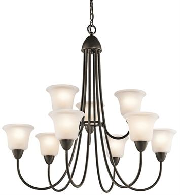 Kichler 42885OZ Nicholson Collection Chandelier 9 Light in Olde Bronze