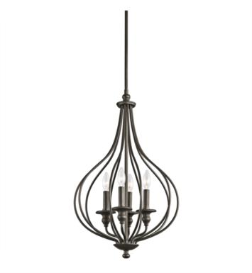 Kichler 43332OZ Kensington 4 Light Incandescent Large Foyer Cage Pendant in Olde Bronze