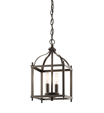 Kichler 42565OZ Larkin Collection Foyer Pendant 2 Light in Olde Bronze