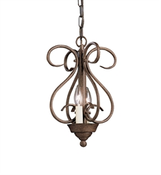 Kichler Norwich Collection Foyer Cage 2 Light in Tannery Bronze