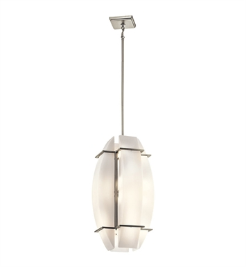 Kichler 42420NI Crescent View Collection Foyer Pendant 16 Light in Brushed Nickel