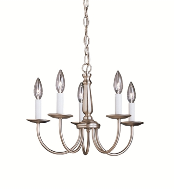 Kichler 1770NI Salem Collection Mini Chandelier 5 Light With Finish: Brushed Nickel