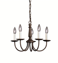 Kichler Salem Collection Mini Chandelier 5 Light in Tannery Bronze