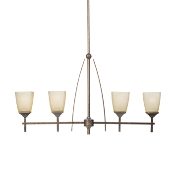 Kichler Souldern Collection Chandelier Linear 4 Light in Marbled Bronze