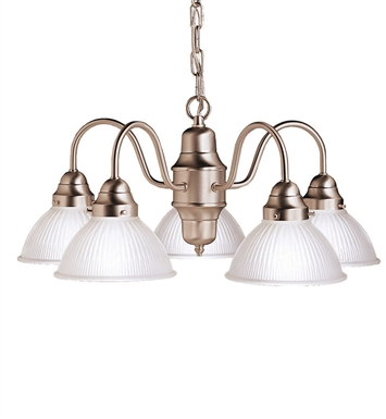 Kichler Cape May Collection Chandelier 5 Light in Brushed Nickel