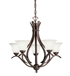 Kichler Dover Collection Chandelier 5 Light Fluorescent in Tannery Bronze
