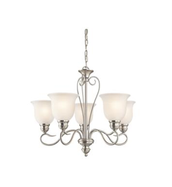 "Kichler 42906L16 Tanglewood 5 Light 24"" LED Single Tier Chandelier with Bell Shaped Glass Shade"
