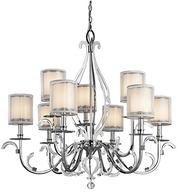 Kichler 42304CH Chandelier 9 Light in Chrome