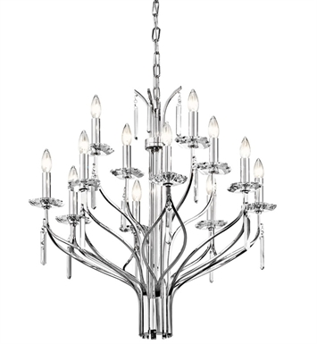 Kichler 42928CH Aliso Collection Chandelier 12 Light in Chrome