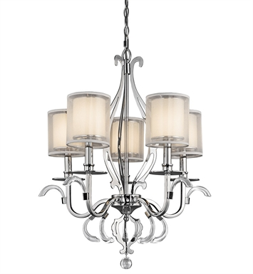 Kichler 42301CH Chandelier 5 Light in Chrome