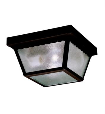 "Kichler 345BK Outdoor Miscellaneous 2 Light 9 1/4"" Incandescent Outdoor Flush Mount Ceiling Light With Finish: Black"