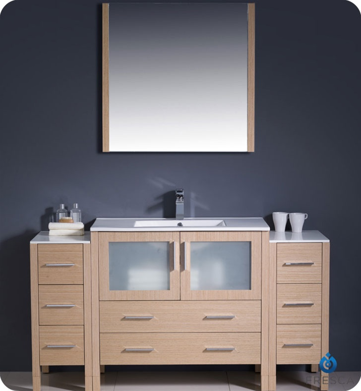 Vanity With Side Lights : Fresca FVN62-123612LO-UNS Torino 60