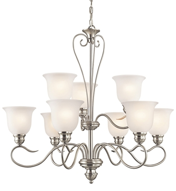 Kichler 42907OZ Tanglewood Collection Chandelier 9 Light With Finish: Olde Bronze