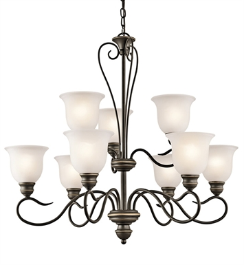 Kichler 42907OZ Tanglewood Collection Chandelier 9 Light in Olde Bronze