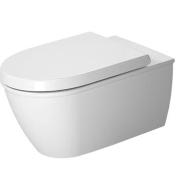 "Duravit 2544090092 Darling New 24 3/8"" Dual Flush One-Piece Wall Mounted Elongated Toilet in White Finish With Finish: White Alpin And WonderGliss Surface Finish: Without WonderGliss"