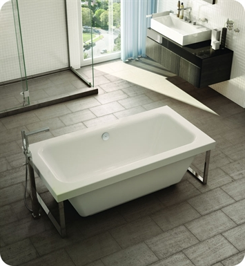 Fleurco BOP6734 Aria Opus Acrylic Bathtub with Tub Feet