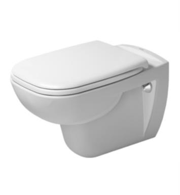 Duravit 25350900922 D-Code Dual Flush One-Piece Wall Mounted Elongated Toilet in White Finish With Finish: White Alpin
