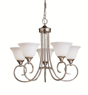 Kichler 1926NI Bristol Collection Chandelier 5 Light in Brushed Nickel