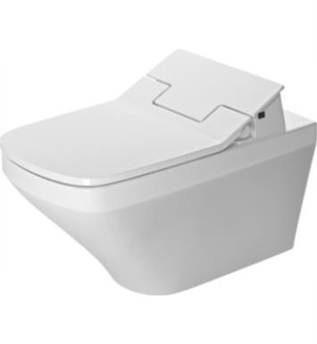"Duravit 2542590092 DuraStyle 24 3/8"" Dual Flush One-Piece Wall Mounted Rimless Elongated Toilet in White Finish With Finish: White Alpin And WonderGliss Surface Finish: Without WonderGliss"