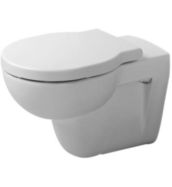 Duravit 0175090092 Foster Dual Flush One-Piece Wall Mounted Round Toilet in White Finish With Finish: White Alpin And WonderGliss Surface Finish: Without WonderGliss