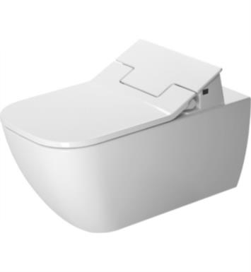 "Duravit 2550590092 Happy D.2 24 3/8"" Dual Flush One-Piece Wall Mounted Rimless Elongated Toilet in White Finish With Finish: White Alpin And WonderGliss Surface Finish: Without WonderGliss"