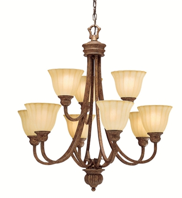 Kichler Northam Collection Chandelier 9 Light in Lincoln Bronze