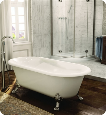 Fleurco BSO6731 Aria Sonata Acrylic Bathtub with Tub Feet