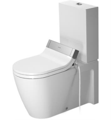 Duravit 2129090092 Starck 2 Dual Flush Two-Piece Floor Mounted Close Coupled Elongated Toilet in White Finish With Finish: White Alpin And WonderGliss Surface Finish: Without WonderGliss