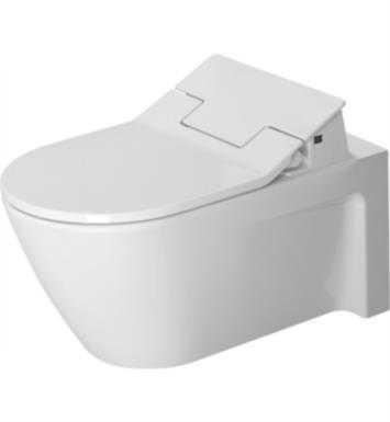 Duravit 2533590092 Starck 2 Dual Flush One-Piece Wall Mounted Elongated Toilet in White Finish With Finish: White Alpin And WonderGliss Surface Finish: Without WonderGliss