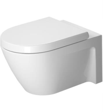 "Duravit 2534090092 Starck 2 21 1/4"" Dual Flush One-Piece Wall Mounted Elongated Toilet in White Finish With Finish: White Alpin And WonderGliss Surface Finish: Without WonderGliss"