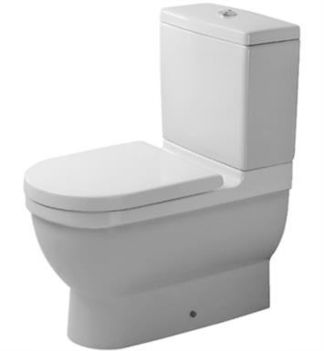 Duravit 0128090092 Starck 3 Dual Flush Two-Piece Floor Mounted Close Coupled Elongated Toilet in White Finish With Finish: White Alpin And WonderGliss Surface Finish: Without WonderGliss