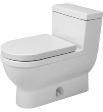Duravit 2120010001 Starck 3 Single Flush One-Piece Floor Mounted Elongated Toilet in White Finish With Finish: White Alpin And WonderGliss Surface Finish: Without WonderGliss
