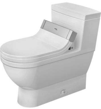 "Duravit 2120510001 Starck 3 28 1/8"" Single Flush One-Piece Floor Mounted Elongated Toilet in White Finish With Finish: White Alpin And WonderGliss Surface Finish: Without WonderGliss"