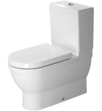 Duravit 2141090092 Starck 3 Dual Flush Two-Piece Floor Mounted Close Coupled Elongated Toilet in White Finish With Finish: White Alpin And WonderGliss Surface Finish: Without WonderGliss