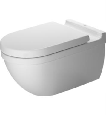 Duravit 2226090092 Starck 3 Dual Flush One-Piece Wall Mounted Elongated Toilet in White Finish With Finish: White Alpin And WonderGliss Surface Finish: Without WonderGliss