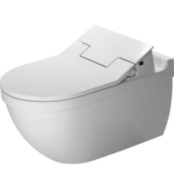 "Duravit 2226590092 Starck 3 24 3/8"" Dual Flush One-Piece Wall Mounted Elongated Toilet in White Finish With Finish: White Alpin And WonderGliss Surface Finish: Without WonderGliss"
