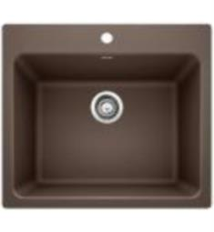 "Blanco 401922 Liven 25"" Single Bowl Drop In/Undermount Laundry Silgranit Kitchen Sink in Cafe Brown"