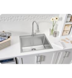 "Blanco 522136 Quatrus 25"" Single Bowl Drop In/Undermount R15 Laundry Stainless Steel Kitchen Sink"