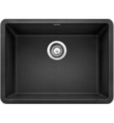 "Blanco 522258 Precis 23 1/2"" Single Bowl Undermount Silgranit Kitchen Sink in Anthracite"