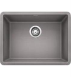 "Blanco 522413 Precis 23 1/2"" Single Bowl Undermount Silgranit Kitchen Sink in Metallic Gray"