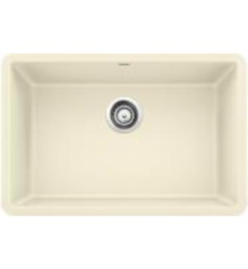 "Blanco 522430 Precis 26 7/8"" Single Bowl Undermount Silgranit Kitchen Sink in Biscuit"