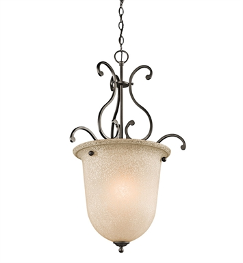 Kichler Camerena Collection Foyer Pendant 1 Light in Olde Bronze