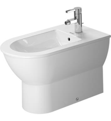 "Duravit 2251100000 Darling New 24 3/4"" Single Hole Floor Standing Bidet in White Finish With WonderGliss Surface Finish: Without WonderGliss"