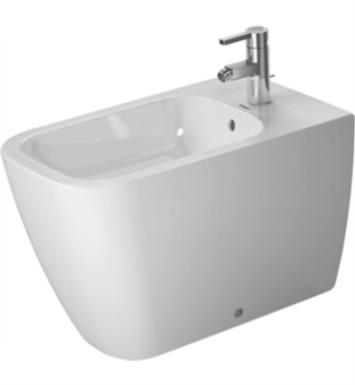 Duravit 2259100000 Happy D.2 Single Hole Floor Standing Bidet in White Finish With WonderGliss Surface Finish: Without WonderGliss