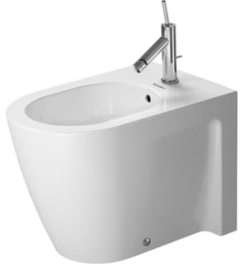Duravit 2255100000 Starck 2 Single Hole Floor Standing Bidet in White Finish With WonderGliss Surface Finish: Without WonderGliss