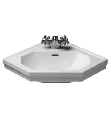 "Duravit 0793420000 1930 Series 23 3/8"" Wall Mount Bathroom Sink with Overflow and Tap Platform"