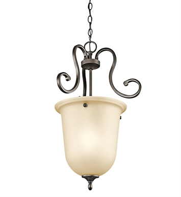 Kichler 43180OZ Feville Collection Foyer Pendant 1 Light in Olde Bronze
