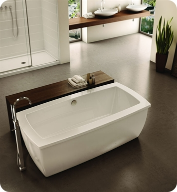 Fleurco BSE7035-18-11 Aria Serenade Acrylic Bathtub With Drain and Overflow Finish: Chrome