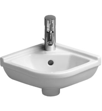 "Duravit 0752440000 Starck 3 16 7/8"" Wall Mount Bathroom Sink with Overflow and Tap Platform"